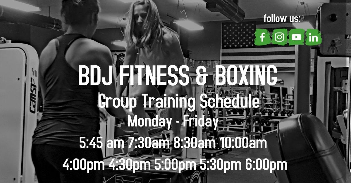 BDJ Fitness Schedule 2020